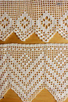 Carolina Crochet: Bicos em crochet filet para pano de prato – 2