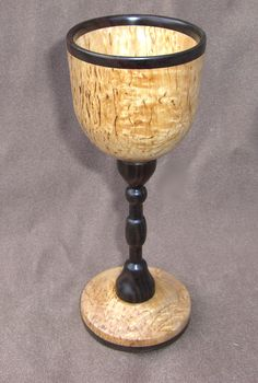 masur birch wood goblet