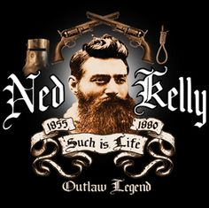"""Edward """"Ned"""" Kelly (June 1854 or 1855 – 11 November was an Irish Australian bushranger. He is considered by some to be merely a cold-blooded killer, while others consider him to be a folk hero and symbol of Irish Australian resistance. Ned Kelly, Criminal Minds Quotes, Grim Reaper Tattoo, As You Like, My Love, Stars Play, Hazel Eyes, Irish, About Me Blog"""