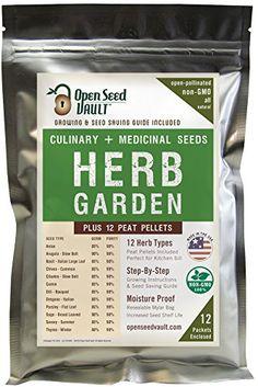 100% NON-GMO Heirloom Culinary and Medicial Herb Kit - 12... https://smile.amazon.com/dp/B01FRLWDAG/ref=cm_sw_r_pi_dp_x_fLJXybVP8H1QX