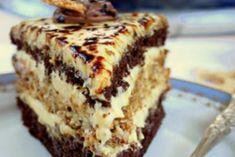 Торт «Халва» Russian Cakes, Russian Desserts, Kiev Cake, French Deserts, Napoleons Recipe, Napoleon Cake, Custard Filling, Honey Cake, Food Cakes
