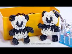 Rainbow Loom Panda - Tutorial in french (advanced) by MesPetitsBonheurs