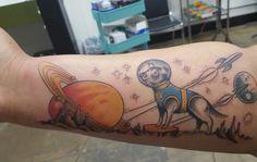 Space Dog - Jake Cavaliere - Alchemy Tattoo Los Angeles