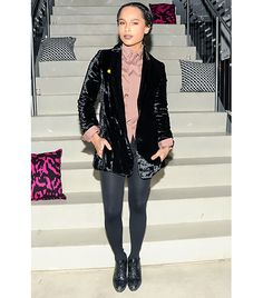 @Who What Wear - WHO: Zoe Kravitz WHAT: Celebrating Diane von Furstenberg's F/W 14 collection at the after-party. WEAR: Diane von Furstenberg blazer.