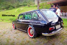 Volkswagen 1600 - Anos 70, Perua, Preto, Rat-Look, Rodas vermelhas, Suspensão rebaixada