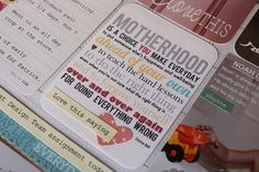 Project Life ~ lots of ideas, links for free borders & printables, how-to print on Project Life cards