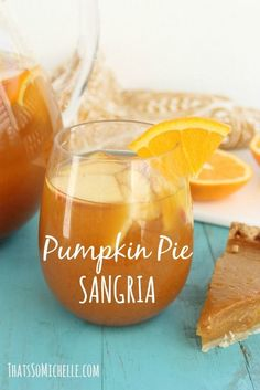 Pumpkin Pie Sangria and other fall punch ideas!