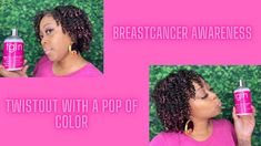 TwistOut with TGIN and a Pop of Color from Gemini Naturals| Breast Cance... Temporary Hair Color, Twist Outs, Breast Cancer Awareness, Gemini, Color Pop, Twins, Colour Pop, Box Braids, Twin