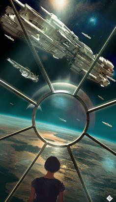 ArtStation - one last look, Col Price Cyberpunk, Arte Sci Fi, Sci Fi Art, Space Fantasy, Sci Fi Fantasy, Ichigo Y Orihime, Starship Concept, Futuristic City, Environment Concept Art