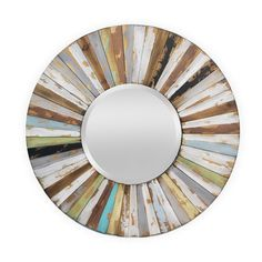Venecia Wall Mirror - Weathered Whites on Joss & Main