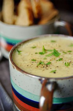 Creamy Mustard & Onion Soup. I have a thing for creamy mustard soup. Is that a typically Dutch thing to eat?