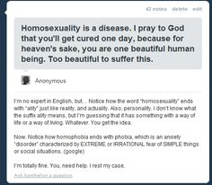 This knowledgeable Tumblr user:   12 People Who Took On Homophobia And Totally Won