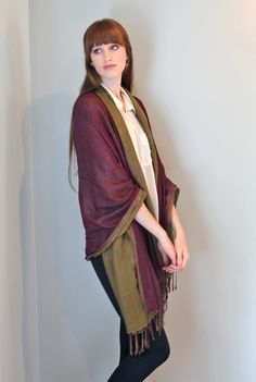 Women's Double Layer Luxurious Reversible Fashion Scarf Shawl Wrap (Sapphire / Tea Green) at Amazon Women's Clothing store: Fashion Scarves