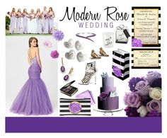 """""""Modern Rose Wedding Inspiration"""" by cyanskycelebrations ❤ liked on Polyvore featuring art and modern"""