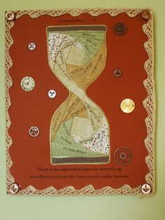 There is A Time Mixed Media Collage Wallhanging by GodsCollage, $15.00