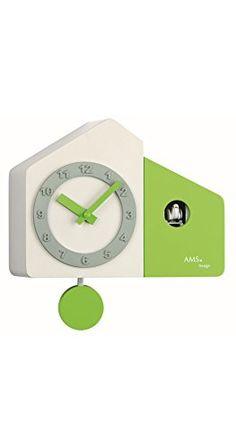 Quarz-Wand- und Tischuhr Farbe (Gehäuse): Weiß / Grün lackiert AMS http://www.amazon.de/dp/B00JWQKKAS/?m=A37R2BYHN7XPNV