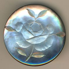 Button--Large Late 19th C. Intaglio Carved Pearl Rose   eBay