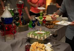 Bill Nye The Science Guy reunion party: we did science-themed catering/ layout. It was fun!