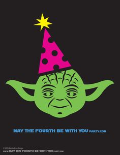 DIY Yoda May the Fourth be with You Party T-shirt. This and many other patterns…