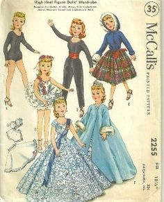 """McCalls vintage doll clothes pattern~ My grandmother made all the clothes for my """"Revlon"""" doll from this pattern."""