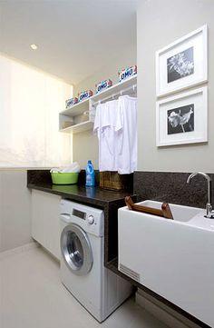Zona de ropas cortinas y persiana d lacuesta pinterest for Lavaderos practicos