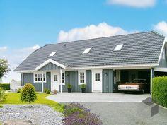 Oslo - Holzhaus von Danhaus ➤ Alle Häuser unter: https://www.fertighaus.de/haeuser/suche/ Fertighaus, Einfamilienhaus, Fertigteilhaus, Eigenheim, Fertigbau
