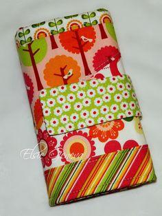 Yellow Pink Lime and Orange Bird Crochet Hook Case by elsiegeneva