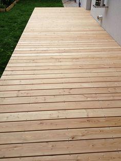 Relativ Holzterrasse mit Treppe und Weg aus Lärche-Terrassendielen von  EK05