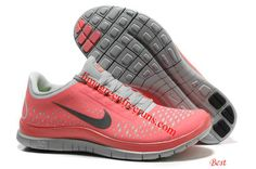 Womens Hot Punch Shoes Pink Nike Free 3.0 V4 White Womens