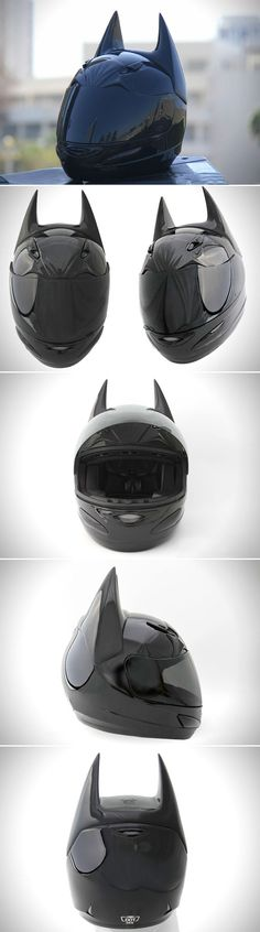 "While Batman has always had a large impact on pop culture, it's hard to argue that Christopher Nolan's The Dark Knight trilogy didn't help resurrect the caped crusader's popularity. The design team at Helmet Dawg have tapped into that popularity, using the DC Comics character as inspiration for their ""Dark as Night"" Batman motorcycle helmet.  What started as a GMax GM48S Platinum Series full face motorcycle helmet has now been transformed into a pointy eared, blacked out helmet that's worthy…"