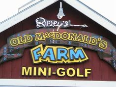Ripley's Old MacDonald's Farm Mini Golf - Where Pigs Do Fly! At Ripley's State-of-the-Art Mini-Golf Course! 54 Amazing Holes of Interactive Barnyard Family Fun! Whimsical mini-golf at its best that only Ripley's could create!