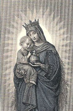 *The Graphics Fairy LLC*: Vintage Clip Art - Extraordinary Holy Card - Madonna and Child Religious Images, Religious Icons, Religious Art, Divine Mother, Blessed Mother Mary, Vintage Holy Cards, Vintage Clip, Ghost Of Christmas Past, Religion Catolica