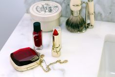 Beauty stash of Tabitha Simmons Forever Red, Tabitha Simmons, Beauty Guide, Beauty Editorial, Beauty Essentials, All Things Beauty, Spa Day, Ruby Red, Beauty Routines