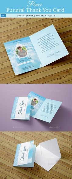 Peace #Funeral Thank You Card Template - Miscellaneous Print Templates.Download here: http://graphicriver.net/item/peace-funeral-thank-you-card-template/16565713?ref=arroganttype
