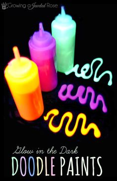 Glow in the Dark Doodle Paints- easy to make and perfect for year round sensory play!