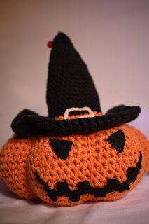Zucca stregata di Halloween Strega, Beanie, Hats, Amigurumi, Hat, Beanies, Hipster Hat, Caps Hats, Beret