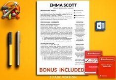 Resume Template | CV Template +bonus by BestResumes.info on @creativemarket