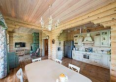 Деревянный дом с элементами ажурной резьбы | Дома из оцилиндрованного бревна | Журнал «Деревянные дома»