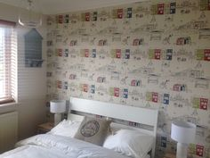 Nautical Beach Theme Guest Bedroom With Brighton Wallpaper