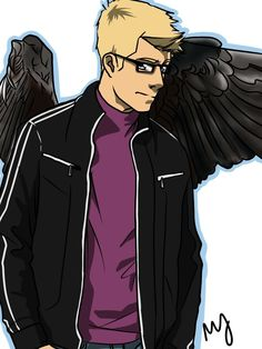 Jason the angel (or demon? I'm not sure) I feel like this is a TMI PJO crossover
