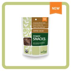 Coffee-Cacao Power Snacks - these organic grab-and-go snacks will keep you energized and will give you  a nourishing supply of antioxidants, fiber, protein, essential fatty acids, vitamins and minerals!