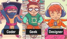 Freebie Release: The Coder, The Geek & The Designer [Wallpapers]