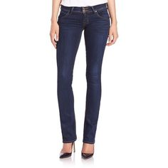 Hudson Beth Baby Bootcut Jeans ($198) ❤ liked on Polyvore featuring jeans, apparel & accessories, oracle, hudson jeans, zipper jeans, boot cut jeans, bootcut jeans and 5 pocket jeans