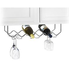 Chrome Under Cabinet Wine Rack with Stemware Holder by Spectrum Ground Shipping Only