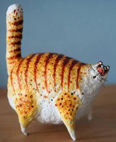 Pappmache Cat