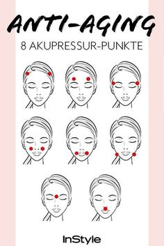 Acupressure against wrinkles: If you press these 8 points, the .-Akupressur gegen Falten: Drückst du diese 8 Punkte, wird deine Haut straffer Acupressure against wrinkles: If you press these 8 points, your skin becomes firmer and wrinkle-free. Natural Hair Mask, Natural Hair Styles, Couleur L Oreal, Anti Aging, Creme Anti Age, Get Rid Of Blackheads, Pimples, Les Rides, Skin Tag