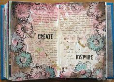 painted, then doodled - love the word emphasis