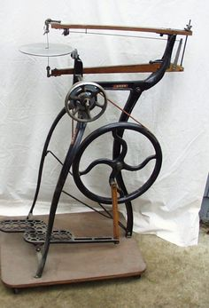 a beautiful foot powered scroll saw