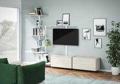 Smart furniture solution combining elegant design with impressive flexibility Living Room Units, Living Area, Modular Shelving, Clothes Rail, Smart Furniture, Wood Design, Storage Solutions, Home Office, Flexibility