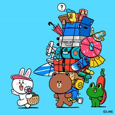 BROWN PIC is where you can find all the character GIFs, pics and free wallpapers of LINE friends. Come and meet Brown, Cony, Choco, Sally and other friends! Friends Image, Line Friends, Line Illustration, Character Illustration, Cony Brown, Brown Bear, Bear Gif, Lines Wallpaper, Kakao Friends